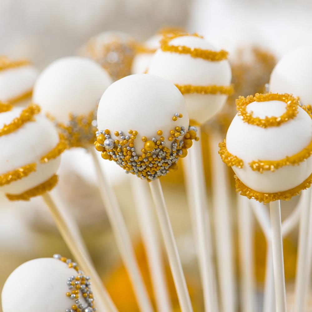 Cake Pops Oro Argento