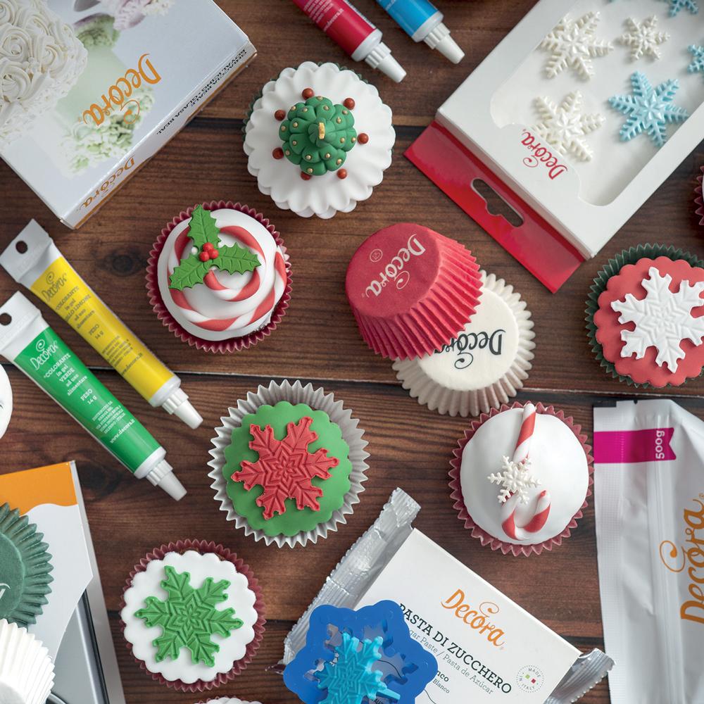 Cupcakes di Natale in Pasta di Zucchero