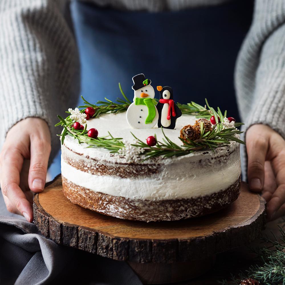 Torta di Pan di Zenzero e Mirtilli Rossi