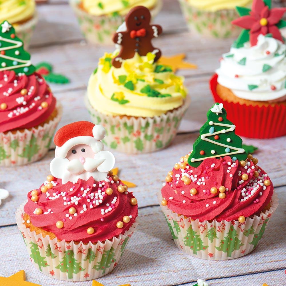 Cupcakes di Natale ai Mirtilli