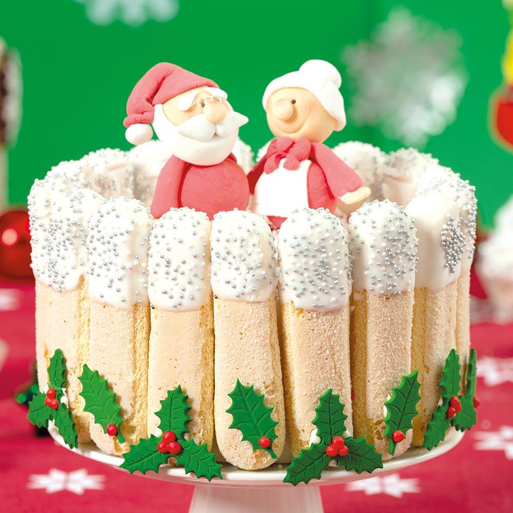 Befana E Babbo Natale.Torta Babbo Natale E Befana Decora