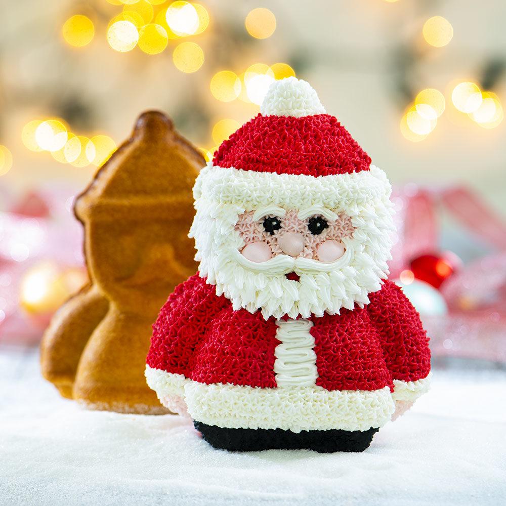 Babbi Natale.Stampo 3d Babbo Natale Decora