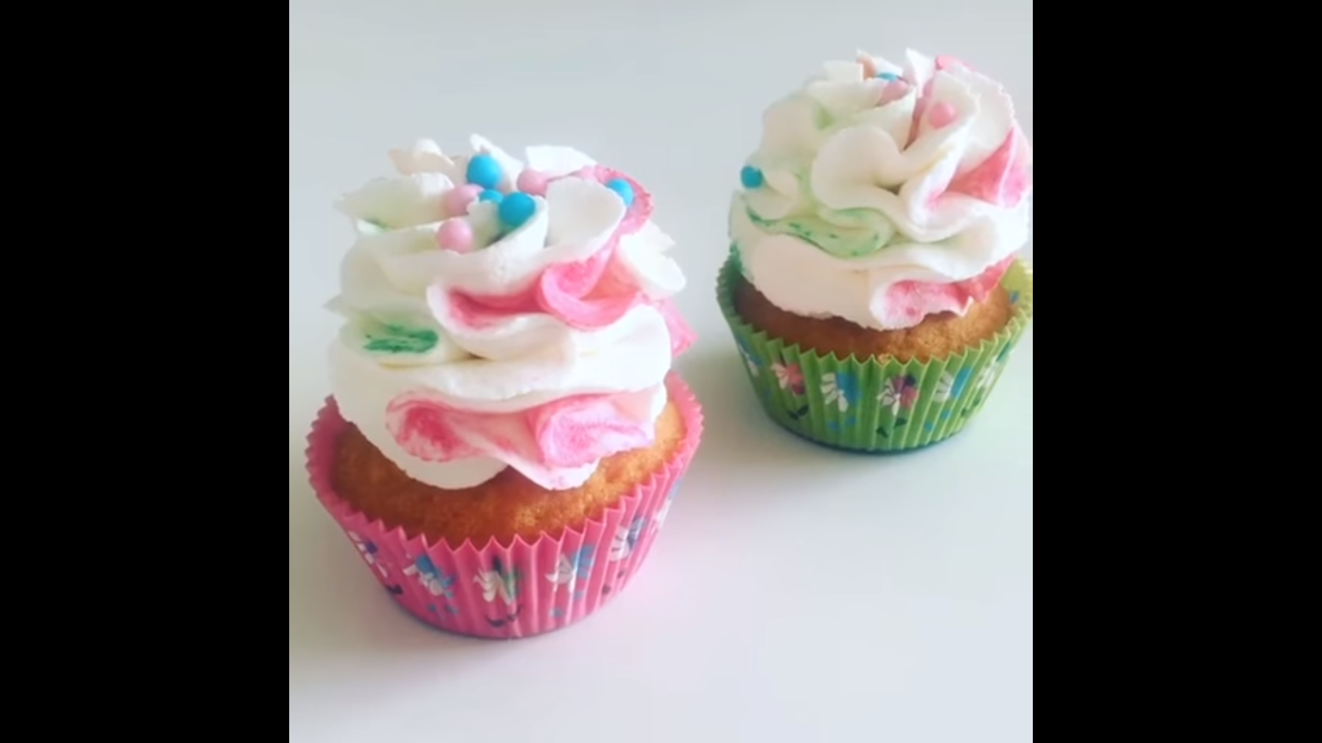 MultiColored Frosting Cupcakes